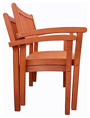 Vifah Malibu Outdoor Garden Stacking Armchair (Set of 2), , large