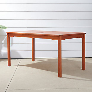Vifah Malibu Outdoor Rectangular Patio Dining Table, , rollover