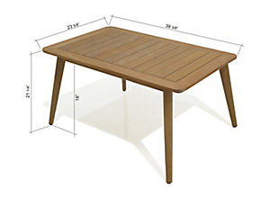 Amazonia Teak Rectangular Coffee Table, , large
