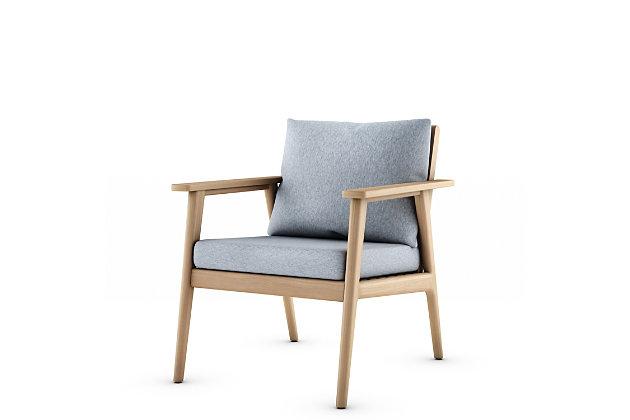Amazonia Teak Armchair with Gray Cushions, , large