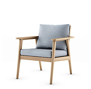 Amazonia Teak Armchair with Gray Cushions, , rollover