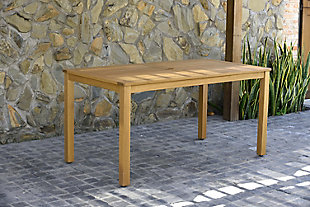 Amazonia Teak Finish Rectangular Dining Table, , rollover