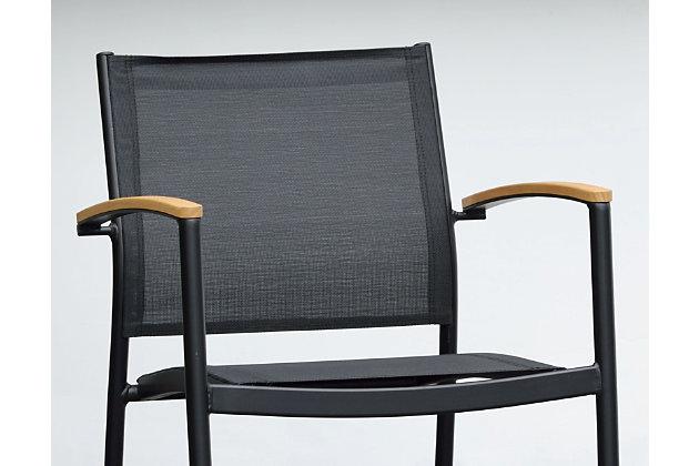 Amazonia Teak Finish and Aluminum Armchairs (Set of 2), , large