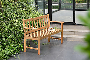Amazonia Teak Finish Bench, , rollover