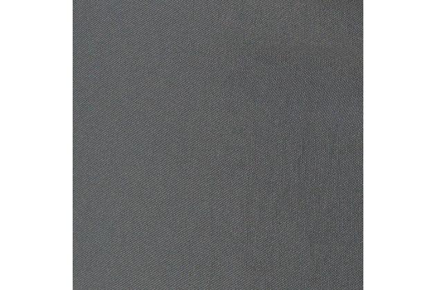 Solid Essien 18 x 18 x 18 Pouf, Gray, large
