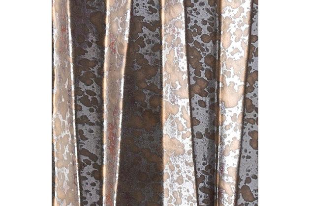 Ceramic Aynor 12.25 x 12.25 x 17.25 Garden Stool, Brown/Silver, large