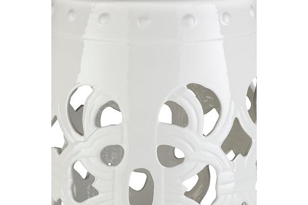 Modern Brinnon 13 x 13 x 18 Stool, White, large