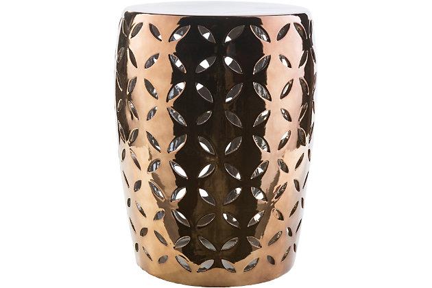 Ceramic Chantilly 13.4 x 13.4 x 17.7 Stool, , large