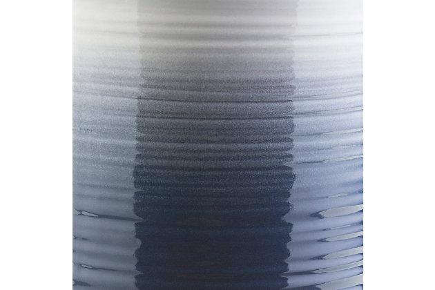 Waverly Waverly 12.8 x 12.8 x 18.1 Stool, Blue/White, large