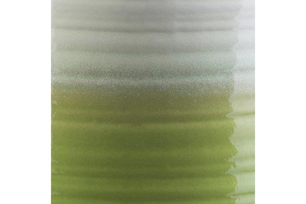 Waverly Waverly 12.8 x 12.8 x 18.1 Stool, Green/White, large
