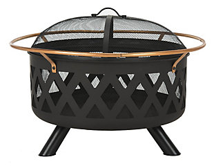 Safavieh Bryce Round Fire Pit, , large