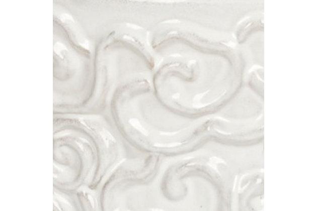 Safavieh White Cloud Garden Stool, , large