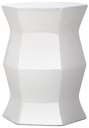 Safavieh Modern Hexagon Garden Stool, White, large