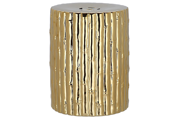 Safavieh Bamboo Garden Stool, Metallic, large