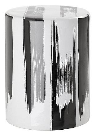 Safavieh Talon Garden Stool, Black/White, large