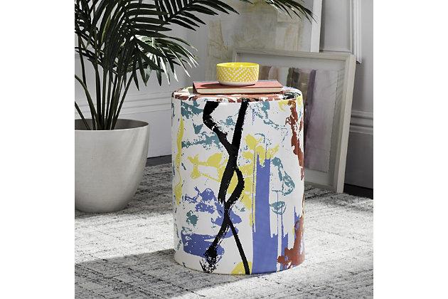 Safavieh Kes Multicolor Garden Stool, , large