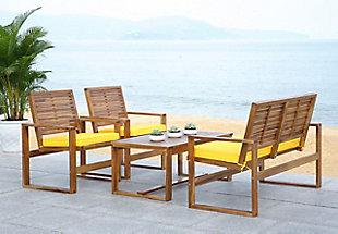 Safavieh Ozark Outdoor Living Set (Set of 4), , large