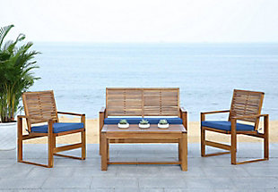 Safavieh Ozark Outdoor Living Set (Set of 4), , rollover