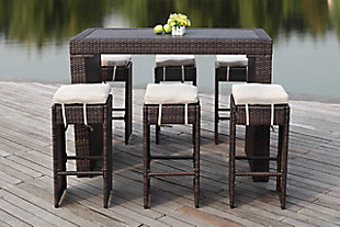 Safavieh Sanders Outdoor Bar Set, , large