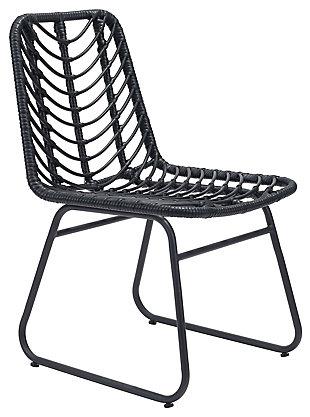 Zuo Modern Laporte Chair (Set of 2), Black, large