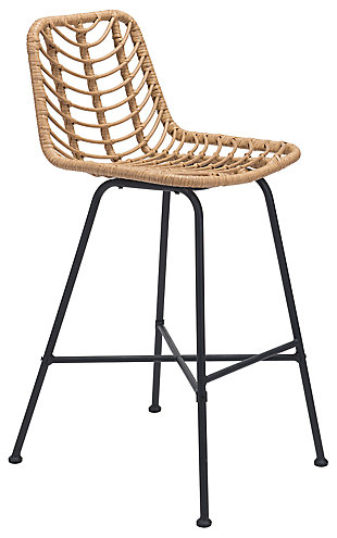 Zuo Modern Malaga Bar Chair, Beige, large