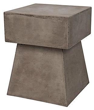 Safavieh Zen Indoor/Outdoor Mushroom Modern Concrete Accent Table, Gray, large
