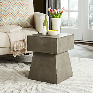 Safavieh Zen Indoor/Outdoor Mushroom Modern Concrete Accent Table, Gray, rollover