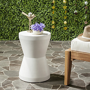 Safavieh Torre Indoor/Outdoor Modern Concrete Accent Table, , rollover