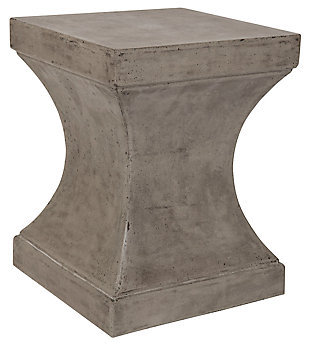 Safavieh Curby Indoor/Outdoor Modern Concrete Accent Table, Gray, large