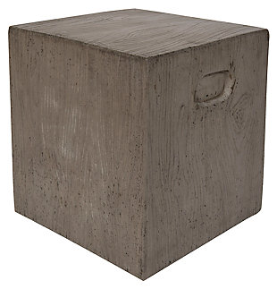 Safavieh Cube Indoor/Outdoor Modern Concrete Accent Table, Gray, large