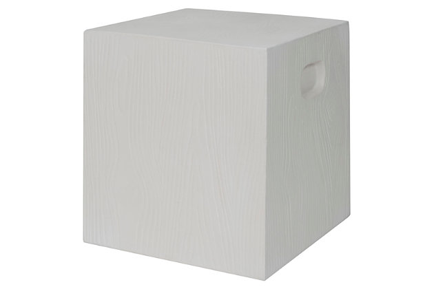 Safavieh Cube Indoor/Outdoor Modern Concrete Accent Table, , large