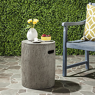 Safavieh Trunk Indoor/Outdoor Modern Concrete Accent Table, Gray, rollover