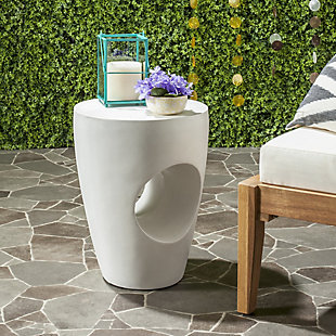 Safavieh Aishi Indoor/Outdoor Modern Concrete Accent Table, , rollover