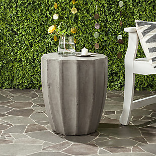 Safavieh Jaslyn Indoor/Outdoor Modern Concrete Accent Table, , rollover