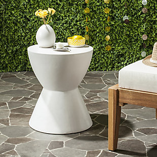 Safavieh Athena Indoor/Outdoor Modern Concrete Accent Table, , rollover