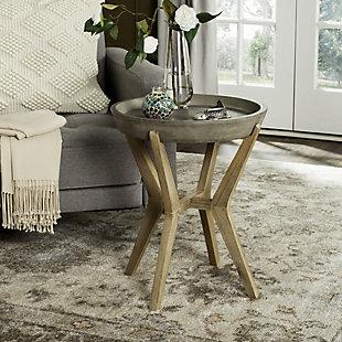 Safavieh Celeste Indoor/Outdoor Modern Concrete End Table, , rollover