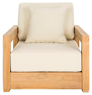 Safavieh Montford Teak Armchair, , large