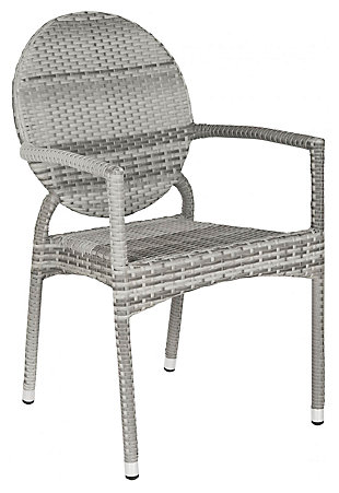 Safavieh Valdez Indoor/Outdoor French Bistro Stacking Side Chair (Set of 2), , large