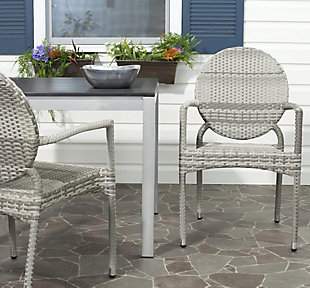 Safavieh Valdez Indoor/Outdoor French Bistro Stacking Side Chair (Set of 2), , rollover