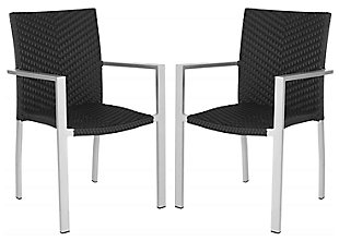 Safavieh Cordova Indoor/Outdoor Stacking Arm Chair (Set of 2), , large