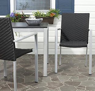 Safavieh Cordova Indoor/Outdoor Stacking Arm Chair (Set of 2), , rollover