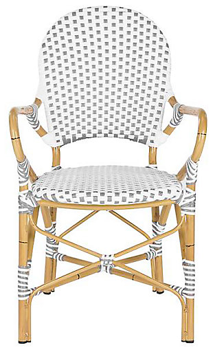 Safavieh Hooper Indoor/Outdoor Stacking Arm Chair (Set of 2), , large