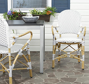 Safavieh Hooper Indoor/Outdoor Stacking Arm Chair (Set of 2), , rollover