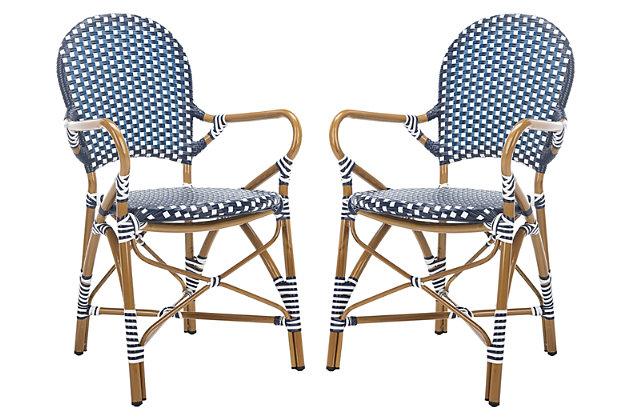 Safavieh Hooper Indoor/Outdoor Stacking Arm Chair (Set of 2), , large