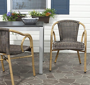 Safavieh Dagny Arm Chair (Set of 2), , rollover