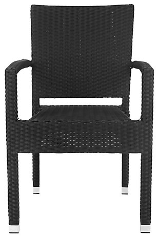 Safavieh Kelda Stacking Arm Chair (Set of 2), Black, large