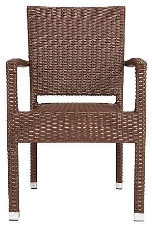 Safavieh Kelda Stacking Arm Chair (Set of 2), Brown, large