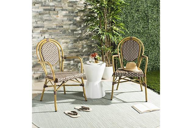 Safavieh Rosen French Bistro Stacking Arm Chair (Set of 2), , large