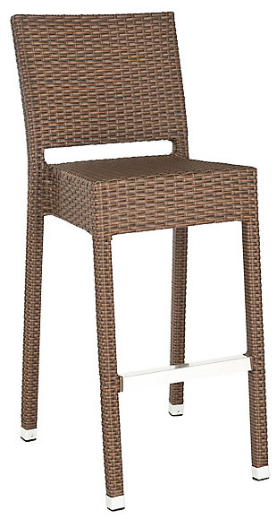 Safavieh Bethel Indoor/Outdoor Bar Stool, Brown, large