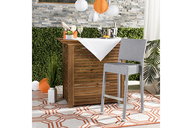 Safavieh Bethel Indoor/Outdoor Bar Stool, , large